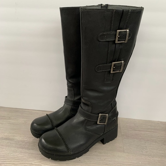 Harley Davidson Leather Motorcycle Boots NWOT sz.8